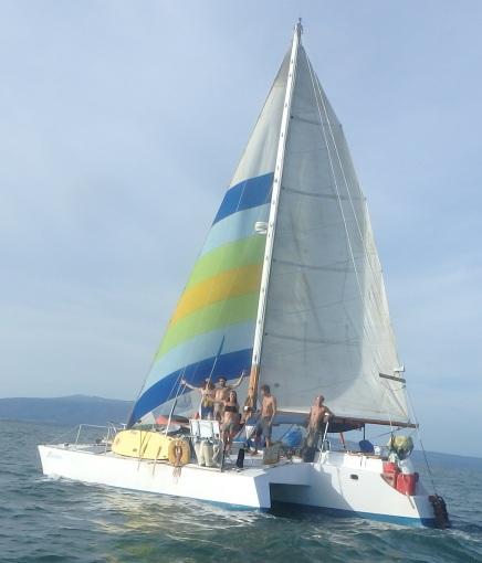 Aldebaran, under sail in Nicaragua