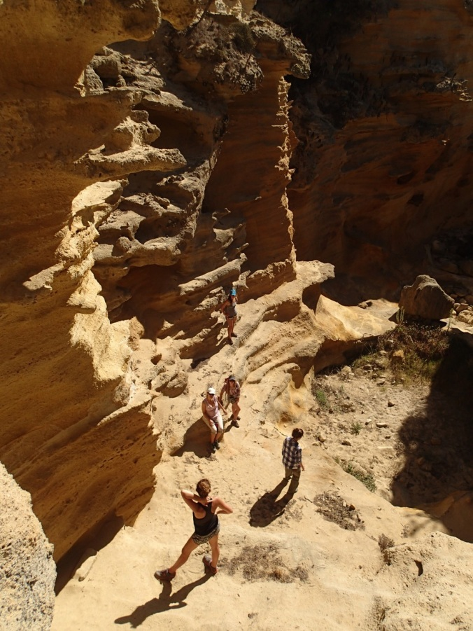Awesome formations sculpted by wind and water at Lobo Canyon