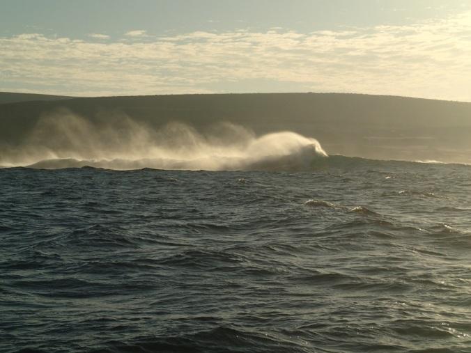 Swell hitting the island