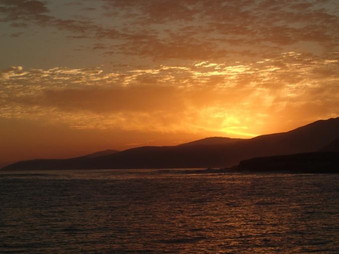 Sunset heading to Johnson's Lee