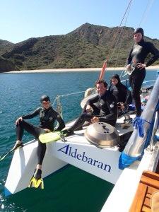 Goofy dive crew Aldebaran
