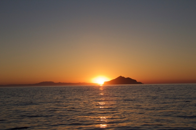 sunrise over Anacapa Island
