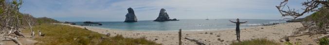 Las Monas, where Blue Footed Boobies nest on white sand beaches