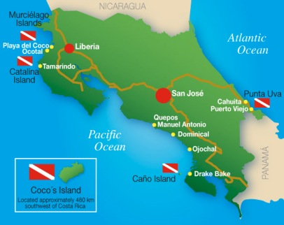 Mapa Guanacaste