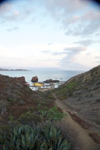 The remote fishing village of San Benitos Island, Baja California.