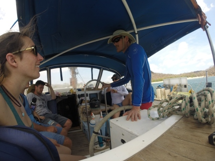 Leaving Playa Giganta, Nicaragua