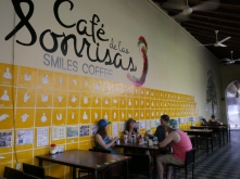 Blind/Deaf café in Granada