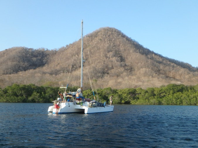 Dry season in Bahia Santa Elena, the first bay in Costa Rica