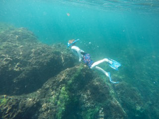 Asher Snorkeling in the Murcielagos