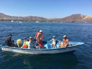 Goodman family leaving Playa Cocos