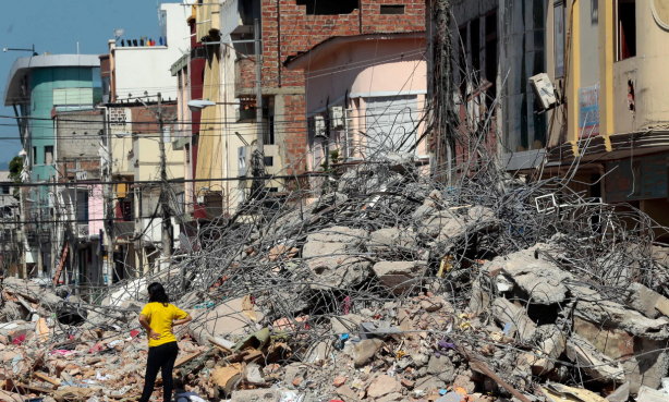 Ecuador Earthquake, April 2016. Photo: https://www.theguardian.com/world/2016/apr/23/ecuador-earthquake-death-toll-rises-rafael-correa