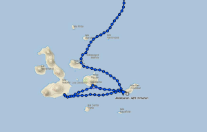 Aldebaran's current location - San Cristobal, Galapagos Islands (August 2016)
