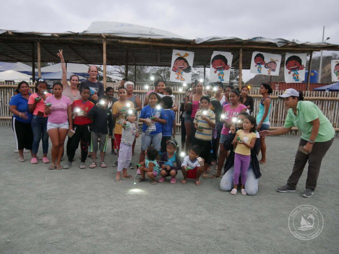 "The solar light recipients at Albuergue ""Fuerza Sucre"" - thanks to Unite-to-light.org !"