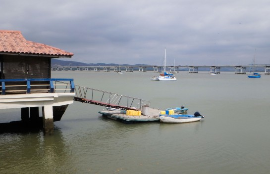 Puerto Amistad's humble dinghy dock. They do have plans for expansion with slips and a tidal grid for boat maintenance.